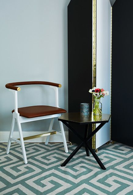 Interior inspiration with Layered's modern rug Greek Key Dusty Leaf. This modern version of the pattern is giving a bold yet classical impression to a room. Free worldwide shipping. See more at: http://layeredinterior.com/product/greek-key/#sthash.1I4uLYUQ.dpuf