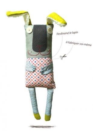 Kit doudou : Ferdinand le lapin - Marie Claire Idées - via http://bit.ly/epinner
