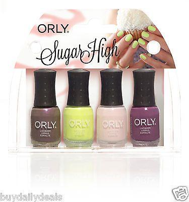 Orly Sugar High Mini 4 Piece Polish Kit 18oz 5 3ml