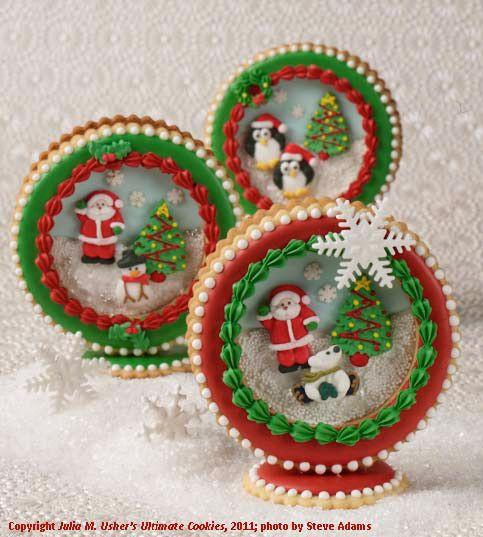 Christmas globe cookies - DEFINITELY bringing back the Christmas Sock Cookie Swap this year, ladies.  :)