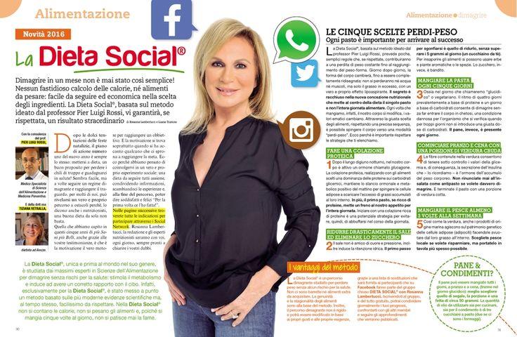 Una settimana di Dieta Social di Rosanna Lambertucci: vi ispira? Iscrivetevi allora al nuovo gruppo facebook per seguirla per un mese e dimagrire in salute.