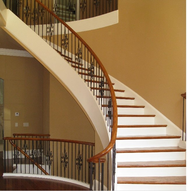 31 best entry foyer images on pinterest curved staircase for Custom home builders gainesville ga