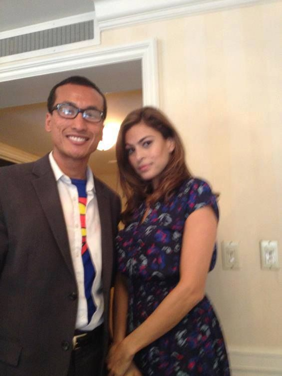 With EVA MENDES (Training Day, 2 Fast 2 Furious, Hitch, The Other Guys, Girl In Progress) at the press junket of 'Girl in Progress'.  Check out my movie blog: Rama's SCREEN at www.ramascreen.com and LIKE my Facebook page at facebook.com/ramascreen and follow me on twitter at @RamasScreen