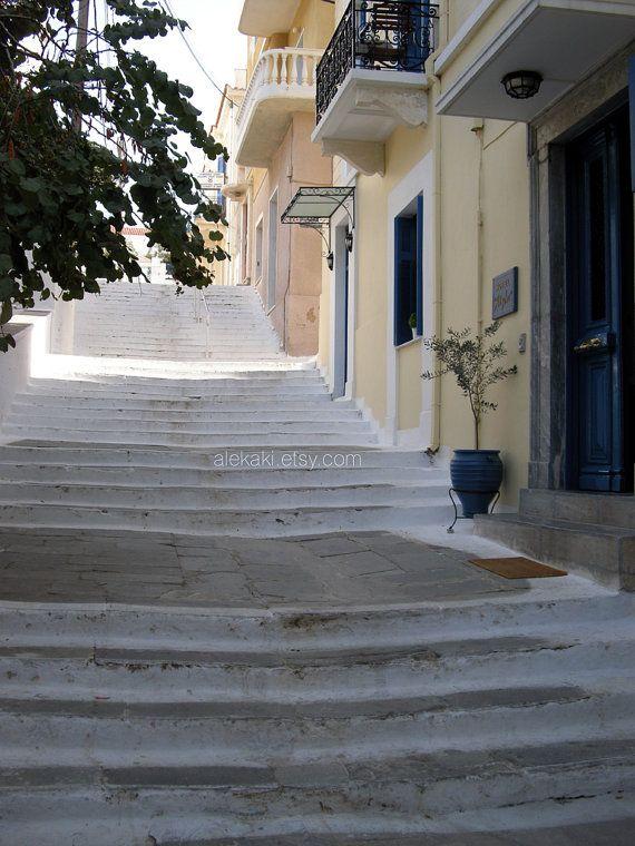 Sea of steps travel photography Greece islands photo by alekaki