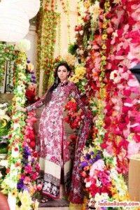 Floral Designs Pakistani Dresses Online for Women www.IndianRamp.com