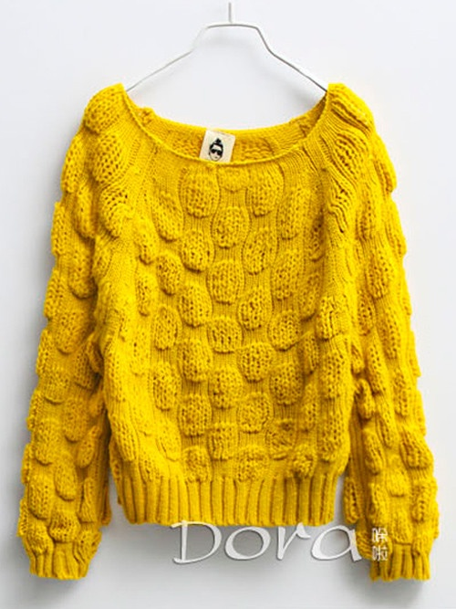 embossed chunky sweater #asianicandy
