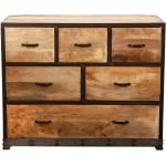 Commode industrielle bois massif INDUSTRIA