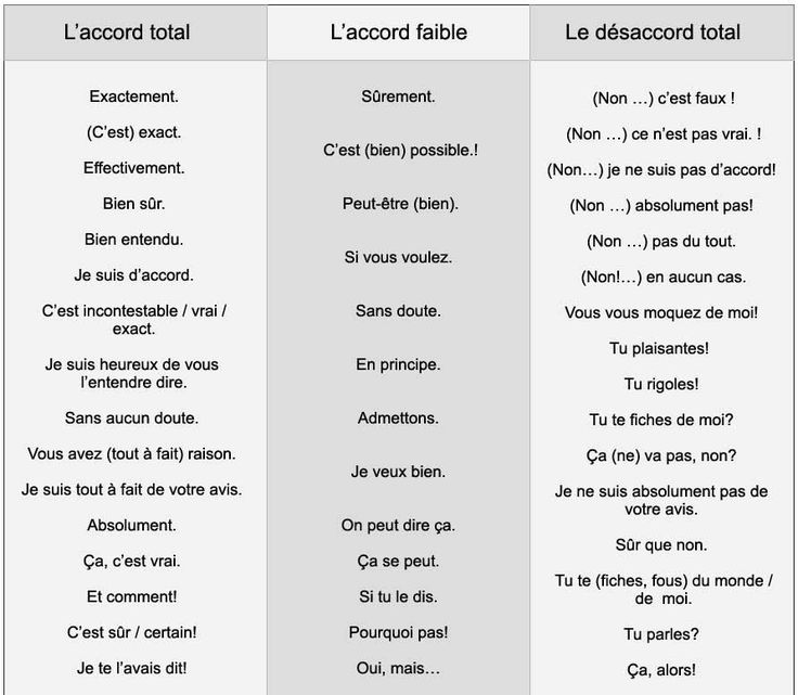 Comment exprimer l'accord / le désaccord - learn French,vocabulary,communication