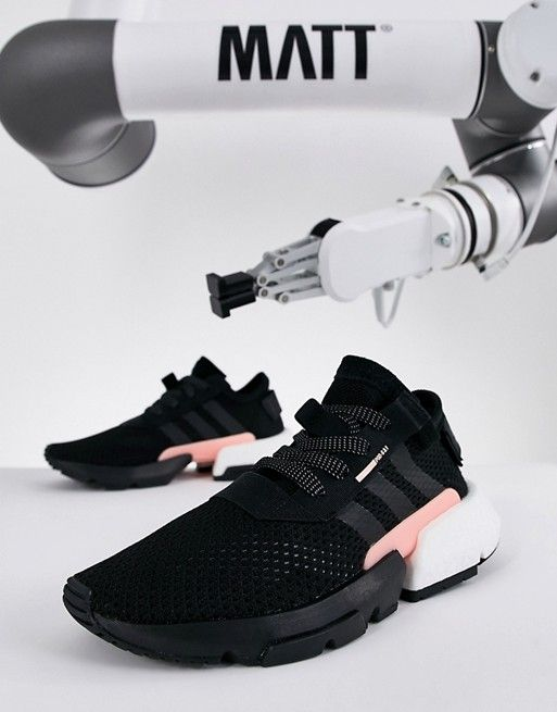 96873d0cbf adidas Originals Pod-S3.1 Sneakers In Black And Pink