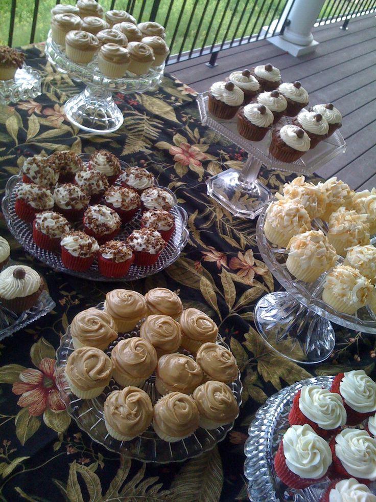 Graduation Cupcake Buffet Graduation cupcakes, High