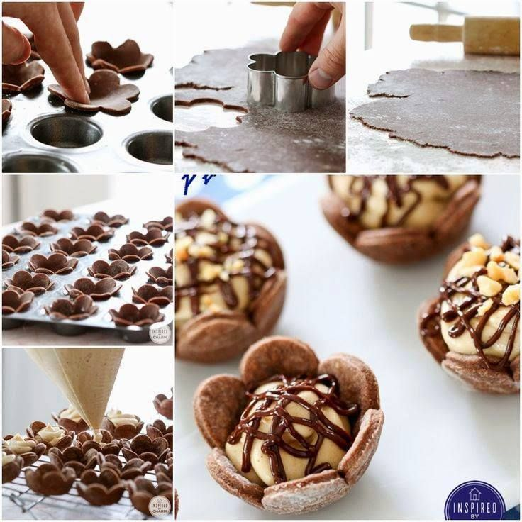NapadyNavody.sk | Kakaové kvetinky plnené arašidovým krémom