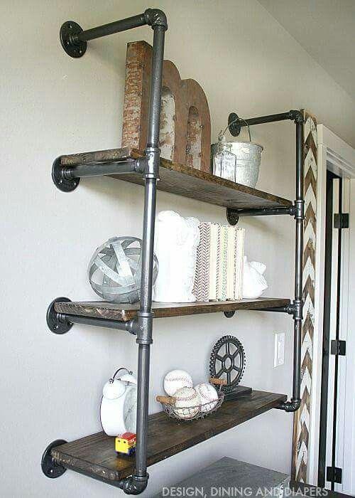 steam punk shelves