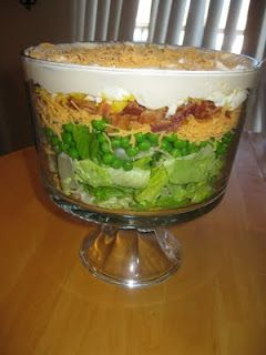 Seven Layer Salad - mom you need to make this soon!