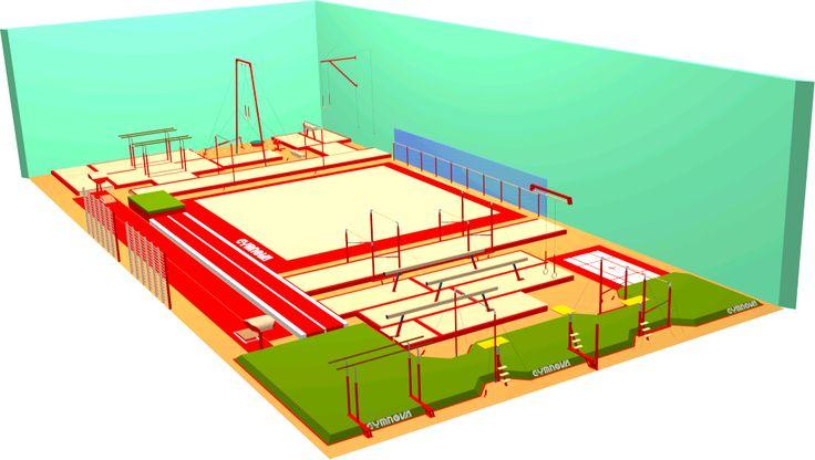 Diseñe su sala de gimnasia en 3D