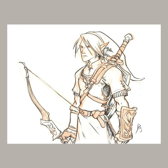 Image of  Link Original Drawing By Jake Parker