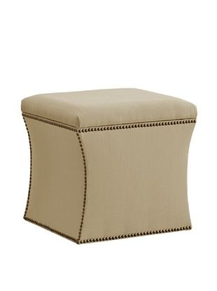 51% OFF Skyline Nail Button Storage Ottoman, Sandstone