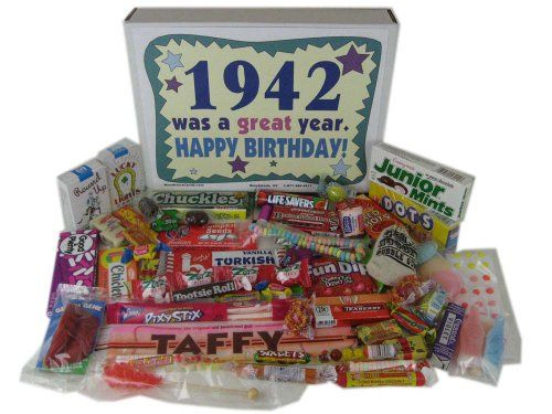 70th Birthday Gift 1942 - Retro Nostalgic Candy $34.95