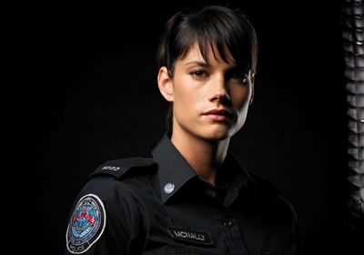 Rookie Blue - my role model :) lol...gymnast to cop... my future if med school doesn't work out.