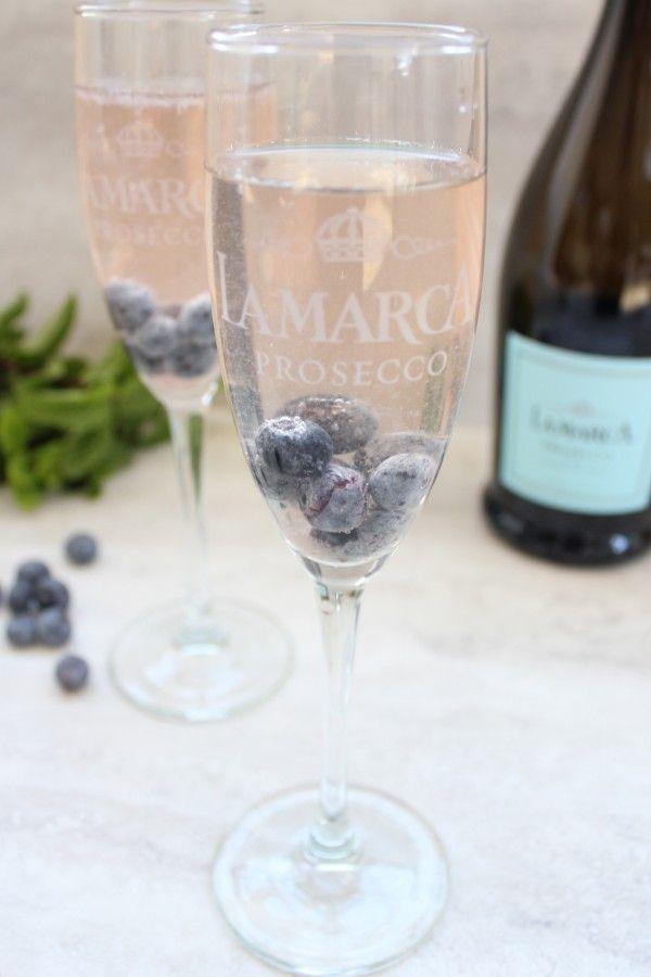 Blueberry Mint Prosecco Sparkler Recipe #LaMarcaSparkle