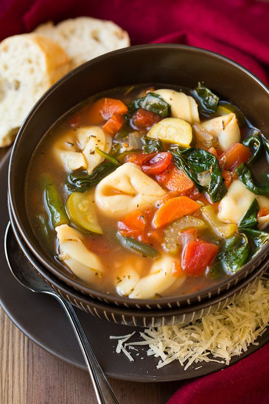 Tuscan Tortellini Vegetable Soup