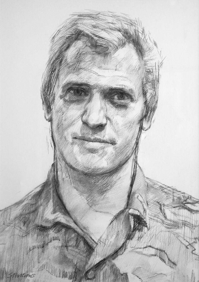 Leading portrait artist, Jeff Stultiens oil portraits and portrait drawings, price-guide, biographical details, notable sitters and method of working