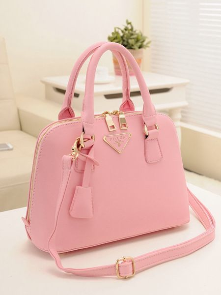 Women fashion style trends, designer pink handbags for leather, messenger, tote…