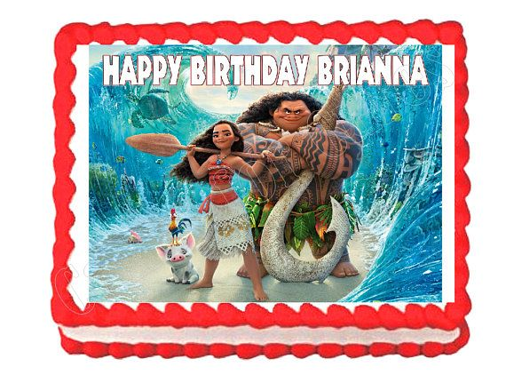 Moana party decoration edible cake image cake topper frosting