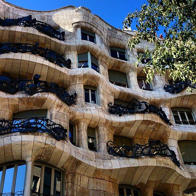 Casa Milà (also known as La Pedrera) by Antoni Gaudí.