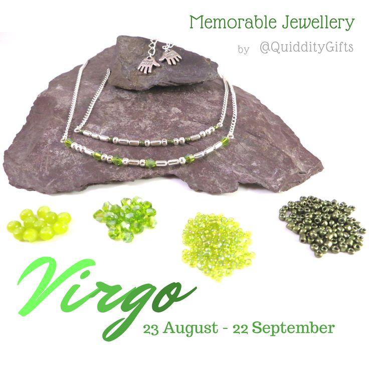 Virgo birthstone jewellery - secret message Morse Code jewellery handmade by QuiddityGifts