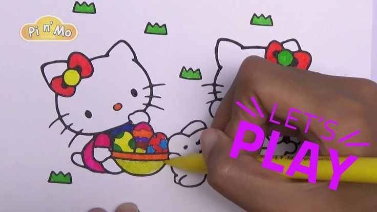 Pi n' Mo: Coloring Pages For Kids With Hello Kitty Coloring Book #Page 8...