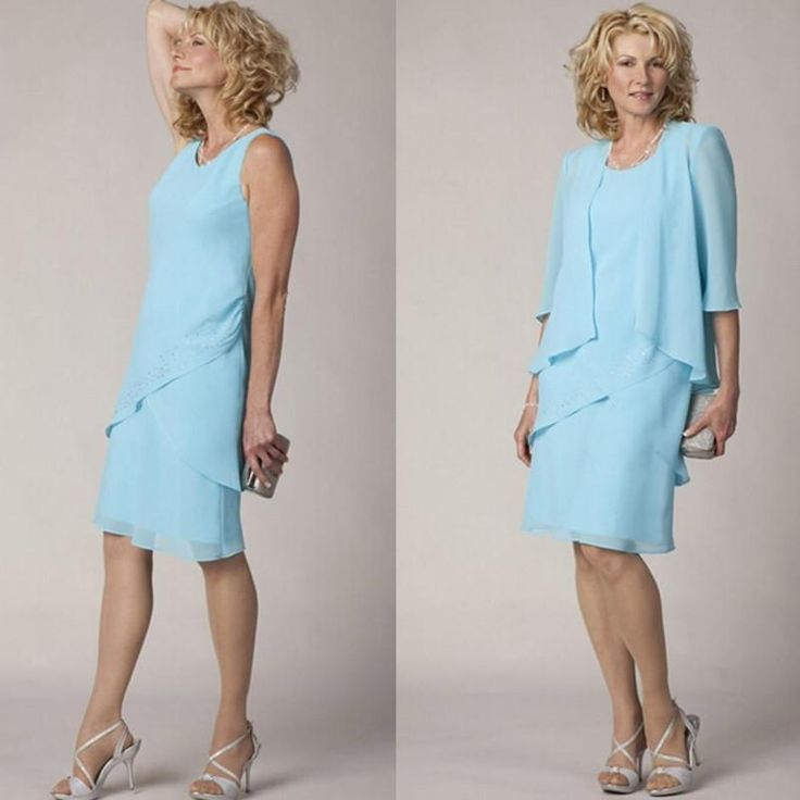 High Quality Light Blue Chiffon Mother Of The Bride Groom Dress Formal Wedding Party Dresses With Half Sleeve Jacket Wedding Guest Gown Mother Of The Bride Dresses Long Mother Of The Bride Plus Size From June_bride, $87.44| Dhgate.Com