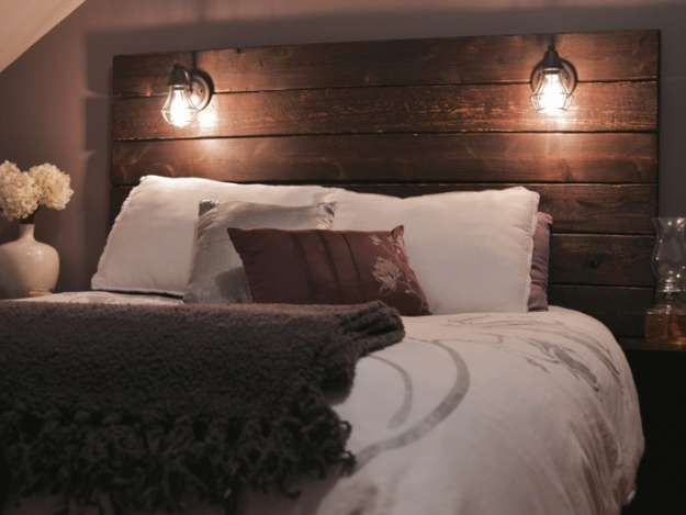 Rustic Wooden Headboard | Rustic Furniture Projects For A Handmade Home