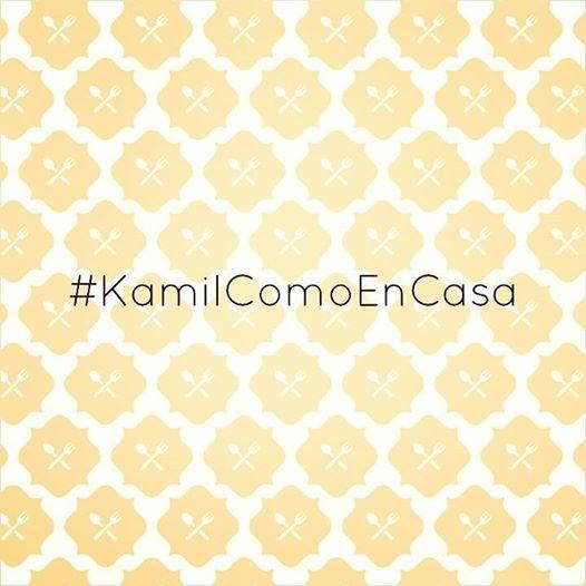 Comparte con #Kamil las fotos que tomes mientras disfrutas de la experiencia de nuestra comida al hashtag #KamilComoEnCasa y recibirás una sorpresa!