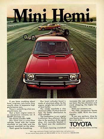 Mini Hemi - Classic Toyota Ad - Corolla