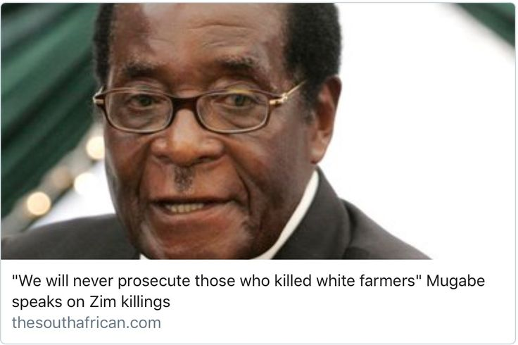 African leader STOLE farms gave to blacks who ruined them ,penny STILL didn't drop (think.!!) China stepped in and rebuilt everywhere (how's that penny?) contracts were offered a few Africans took the govfunding &RAN - they are offered every opportunity they want it ALL but most dont have the acumen to work at business level , THATS IT! No biggy - it is what it is , u don't see women killing & stealing penis's bc we can't pee standing up - we all have our roles don't b***** if yours ain't…
