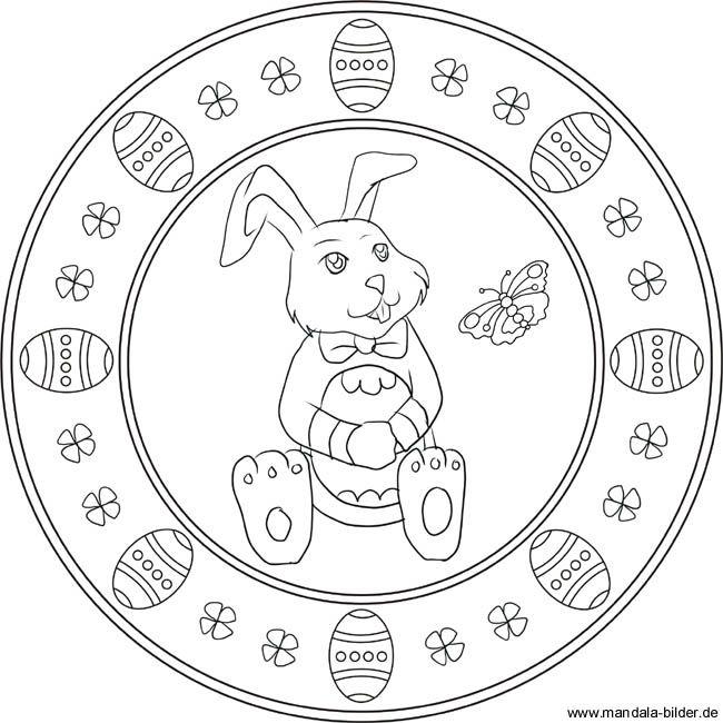 Easter mandala for kids | Mandala für Kinder mit dem Osterhasen