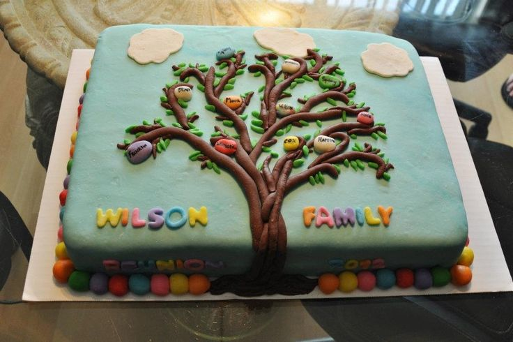 Family Tree Cake!!! - This one is one of my favorites... Made this with another Baker for a family reunion that we were apart of.