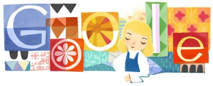Google's Icon celebrating Mary Blair 100th Birthday (Mary was Disney  Artists esp known for ITS A SMALL WORLD)