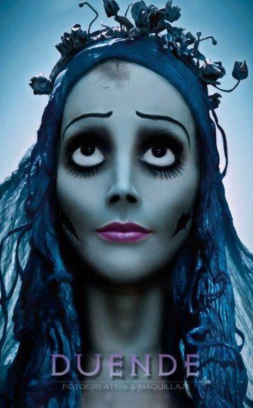 By Duende. Maquillaje y Edición de Fotografía.  crazy avant garde makeup corpse bride inspired