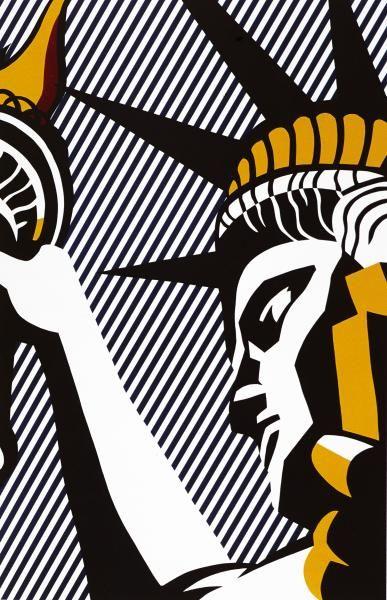"""ROY LICHTENSTEIN (1923-1997) - I LOVE LIBERTY, 1982 - (Corlett, 192) -[...], mis en vente lors de la vente """"Estampes & Multiples"""" à Cornette de Saint Cyr Paris   Auction.fr"""