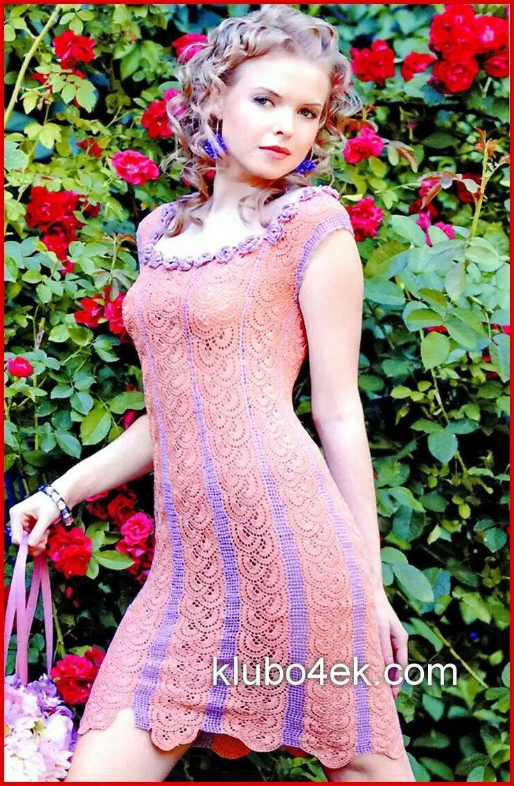 Mejores 871 imágenes de crochet moda mujer en Pinterest | Ropas de ...