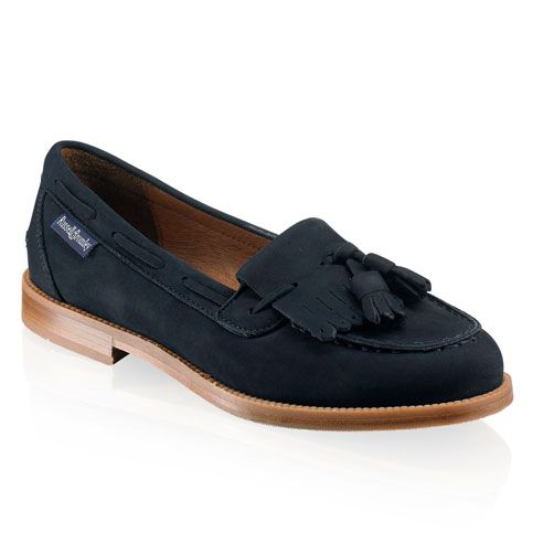 Chester Tassel Loafer, Navy Blue Suede - Russell and Bromley want these so bad. #russellandbromley #covetme
