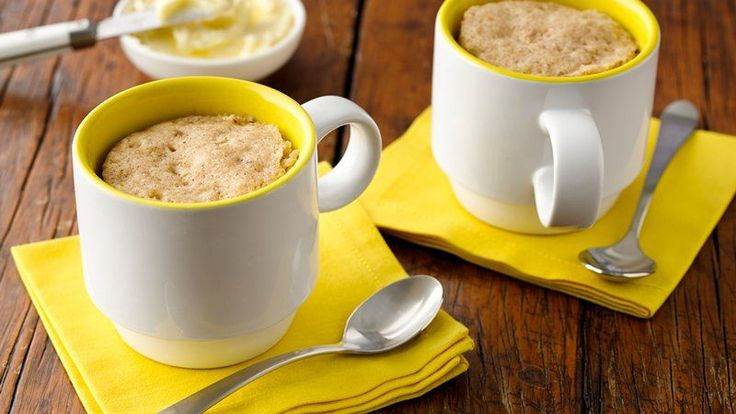 These easy mug muffins will fill your craving for warm banana bread; great to serve right from the mug. Just grab a spoon, and dig in!