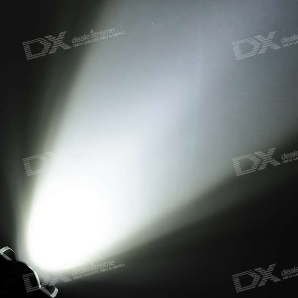 SIPIK SK68 120-Lumen Convex Lens LED Zooming Flashlight w/ Cree Q3-WC - Black (1*AA/14500)