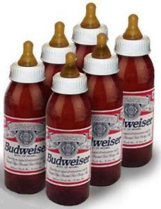 Baby Beer Bottle Chugging