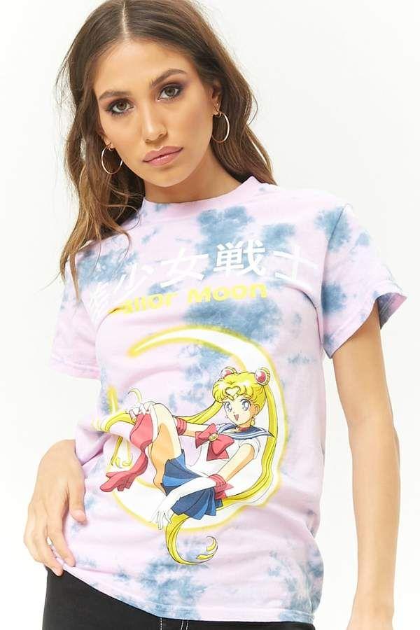 e836b62c Forever 21 Tie-Dye Sailor Moon Anime Graphic Tee Women's Fashion $17.90  #sailormoon #anime #shirt #tshirt #fashion #womensfashion #affiliate