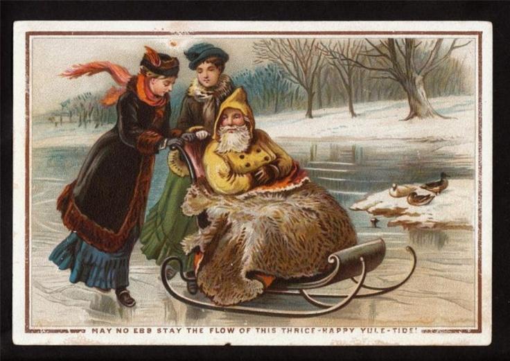 father christmas sleigh decoration
