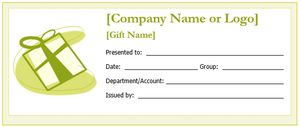 Create a Gift Certificate with These Free Microsoft Word Templates: Free Gift Certificate Templates at WordTemplates.org