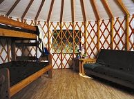 Interior of Cape Disappointment Yurt