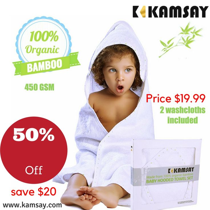 "#kids #kid #instakids #TagsForLikes #child #children #childrenphoto #love #cute #adorable #instagood #young #sweet #pretty #handsome #little #photooftheday #fun #family #baby #instababy #play #happy #smile #instacute Organic Bamboo Baby Hooded Towel & 2 Washcloths -Large (34""X34"") - 100% Bamboo, Organic, 450 GSM , ULTRA SOFT - Boy & Girl, Infant and Toddler Baby Gift…"